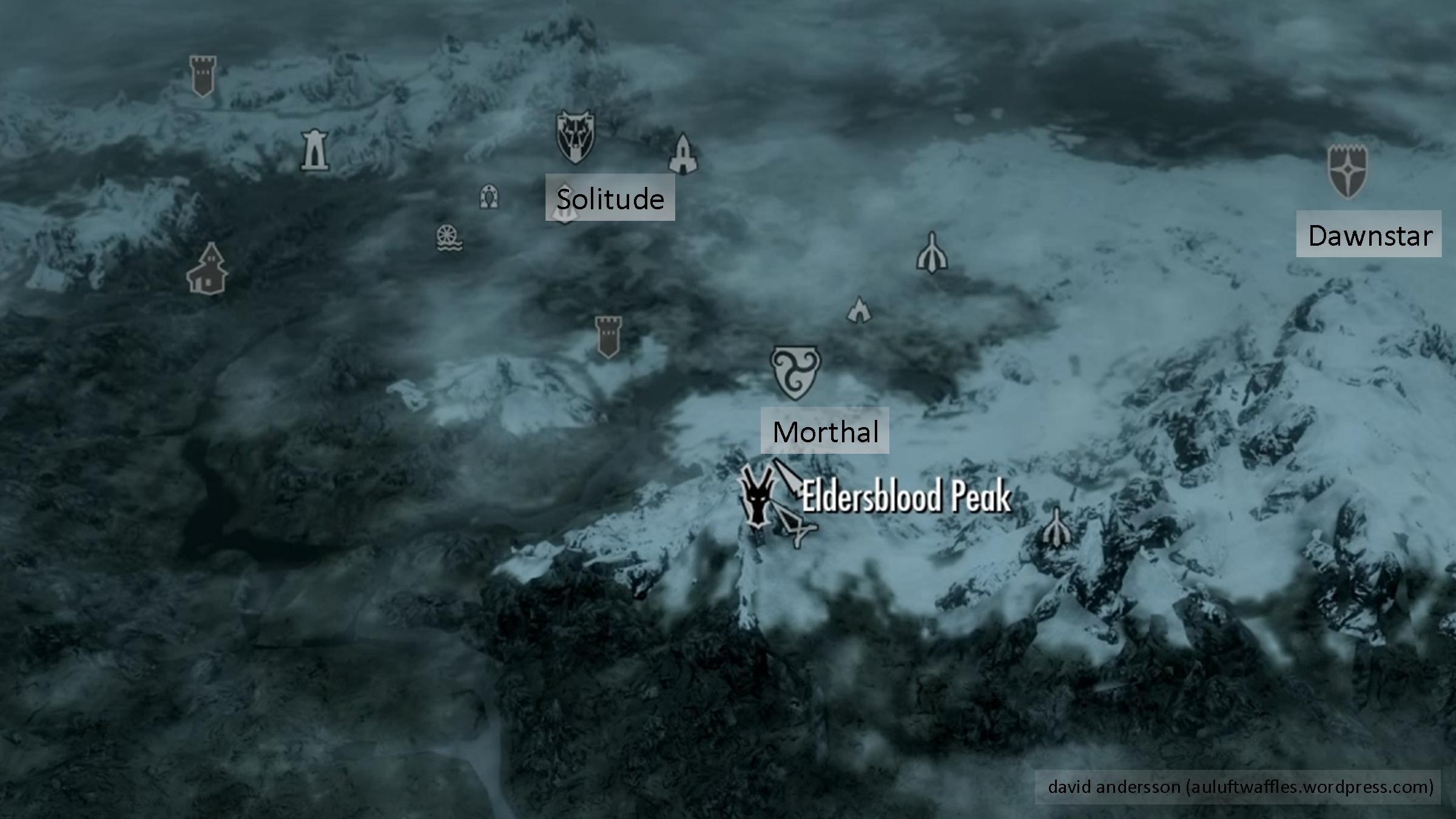 Skyrim: Eldersblood Peak (Word of Power: Hand of Disarm Shout ...