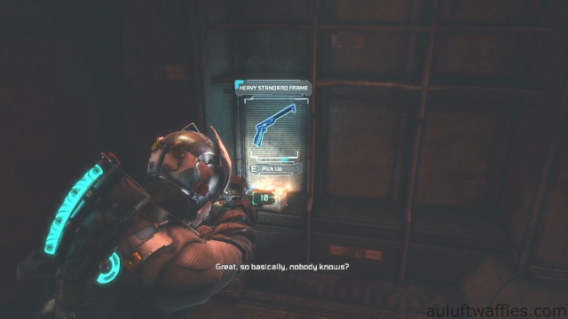 Heavy Standard Frame Location in Chapter 5 - Expect Delays in Dead Space 3