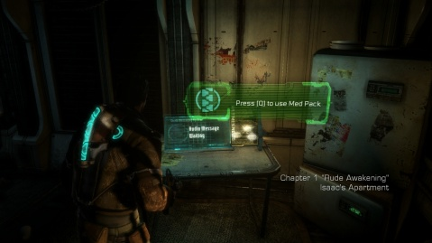 Audio log Location for Chapter 1 - Rude Awakening in Dead Space 3