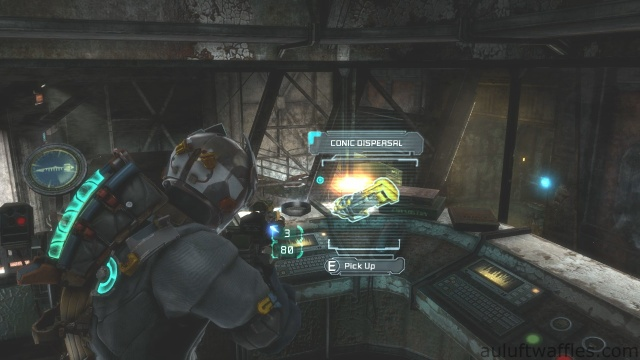 Conic Dispersal Fourth Weapon Part Location in Chapter 5 - Expect Delays in Dead Space 3