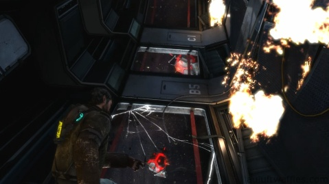 Mines on Other Side of Window in Chapter 2 - On Your Own in Dead Space 3