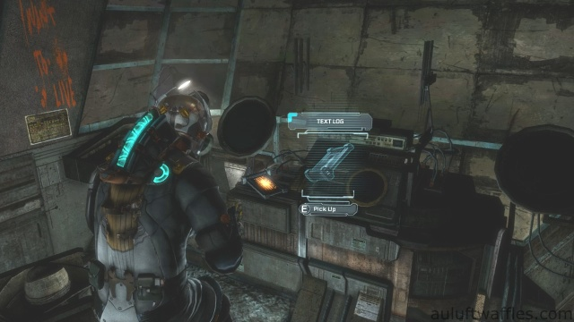 Fourth Text Log Location in Chapter 5 - Expect Delays in Dead Space 3