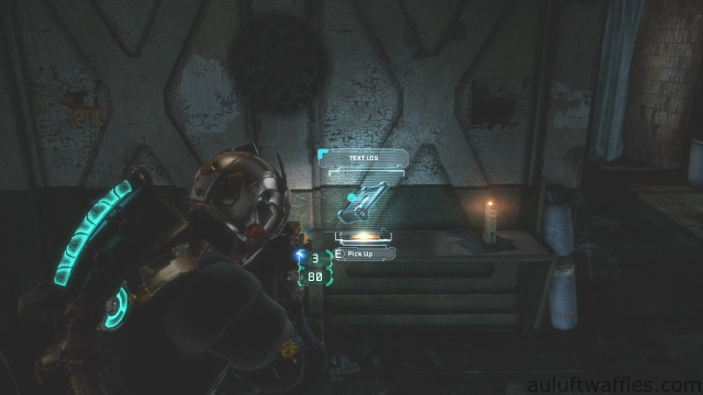 Fifth Text Log Location in Chapter 5 - Expect Delays in Dead Space 3