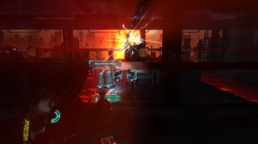 Two Enemies Beating at a Window in Chapter 1 - Rude Awakening in Dead Space 3