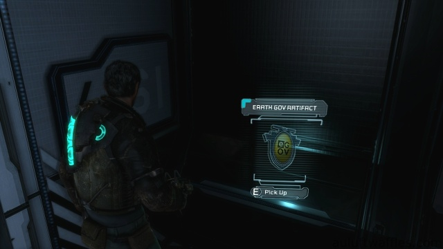 Location of Earth Gov Artefact in Chapter 2 - On Your Own in Dead Space 3