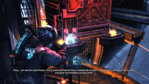 Moving the Arms Holding the Canister in Chapter 2 - On Your Own in Dead Space 3