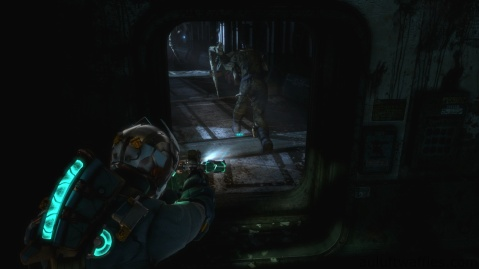 Enemies Don't Follow Your Through Doors in Chapter 3 in Dead Space 3