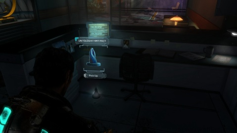Unitologist Artifact Location in Chapter 1 - Rude Awakening in Dead Space 3