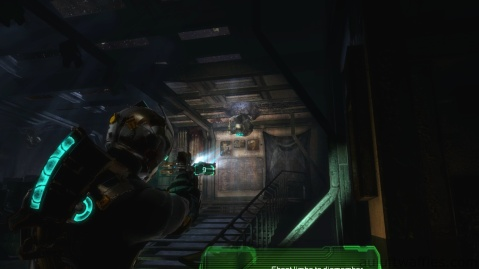 Enemy Hanging from the Roof in Chapter 3 in Dead Space 3