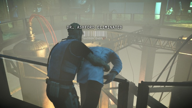 Dump Dr. Ashford's Body Over the Railing Here in R&D in Hitman: Absolution