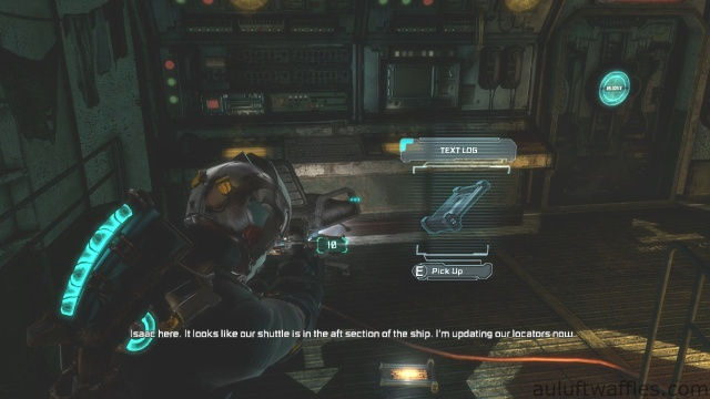 Second Text Log Location in Chapter 5 - Expect Delays in Dead Space 3