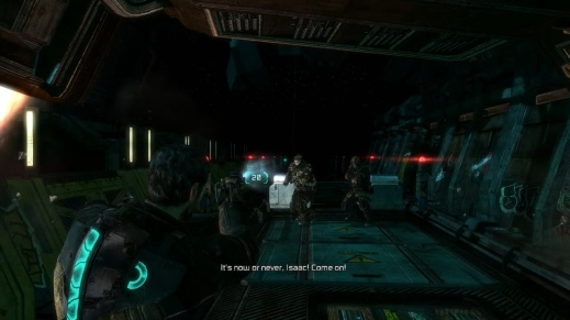 Shoot the Enemy on the Left First in Chapter 1 - Rude Awakening in Dead Space 3