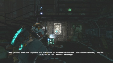 Best Position to Survive in Engine Room in Chapter 5 Optional Part in Dead Space 3
