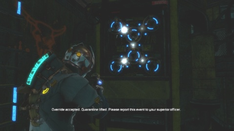 Solution to Engine Room Puzzle in Chapter 5 Optional Part in Dead Space 3