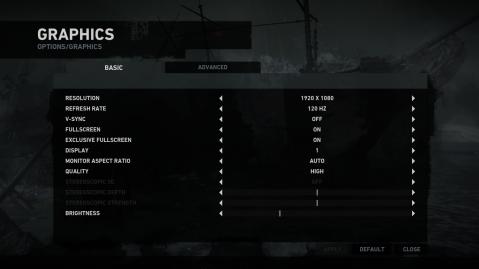 Tomb Raider PC Basic Graphics Options Menu