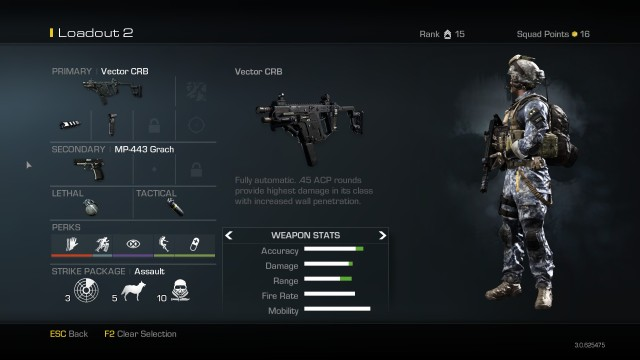 Vector CRB Best Soldier Setup Call of Duty Ghosts