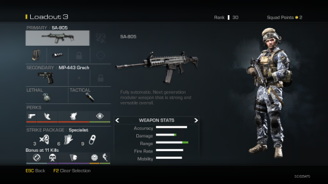 SA-805 Best Soldier Setup Call of Duty Ghosts Weapon Guide