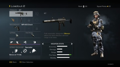 K7 Submachine Gun best Soldier Setup Call of Duty Ghosts Weapon Guide