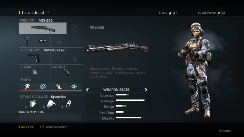 MTS-255 Best Soldier Setup Call of Duty Ghosts Weapon Guide