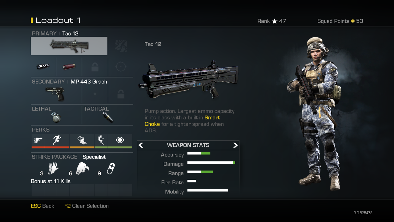 Tac 12 shotgun weapon guide call of duty ghosts best soldier setup