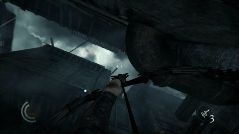Attach a Rope to this Beam to get into Montonessis Abode in A Stroke of Madness in Thief 2014