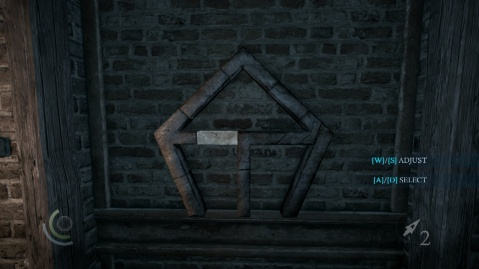 Push this Bar in first to Solve the Wall Combination Puzzle in Heartbroken in Thief 2014