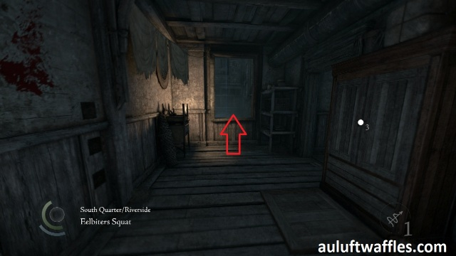 Go through the Indicated Window to Disable the Trap in The Disappearing Poet in Thief 2014