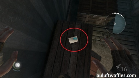The Poet Fragment One is on top of the Cupboard on the Upper Level in The Disappearing Poet in Thief 2014