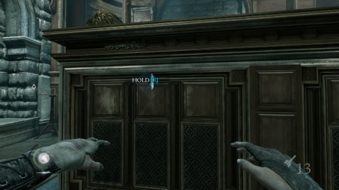 Peep Hole to Line Up a Column to Get the Baron's Treasure in The Northcrest Manor in Chapter 6 A Man Apart in Thief 2014