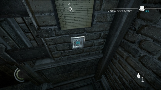Insert the Key into the Silver Square to Bypass the Security Door in Chapter 2 Dust to Dust in Thief 2014