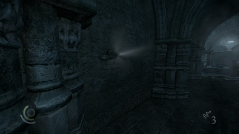 An Example of One of the Peep Holes through which the Other Symbols can be Found to Activate the Podium in The House of Blossoms Secret Passage in Chapter 3 Dirty Secrets in Thief 2014