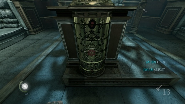 Correct Setup of the Left Column in the Secret Room in the Northcrest Manor in Chapter 6 A Man Apart in Thief 2014