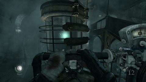 Use These Wheels to Break the Glass to Acquire the Primal Stone Fragment in The Baron's Laboratory in the Northcrest Manor in Chapter 6 A Man Apart in Thief 2014