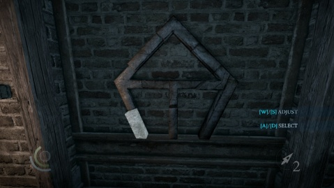 Push this Bar in Second to Solve the Wall Combination Puzzle in Heartbroken in Thief 2014