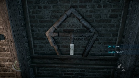Push this Bar in Third to Solve the Wall Combination Puzzle in Heartbroken in Thief 2014
