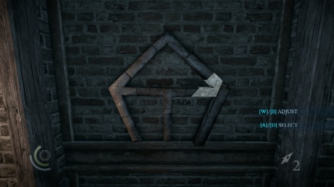 Push this Bar in Fifth to Solve the Wall Combination Puzzle in Heartbroken in Thief 2014