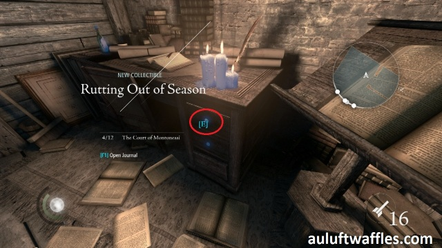 The Poet Fragment Five is in one of the Drawers of the Table on the Lower Level in The Disappearing Poet in Thief 2014