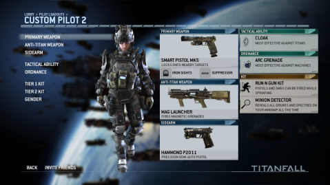 Best Pilot Loadout with the Smart Pistol MK5 in Titanfall 2014