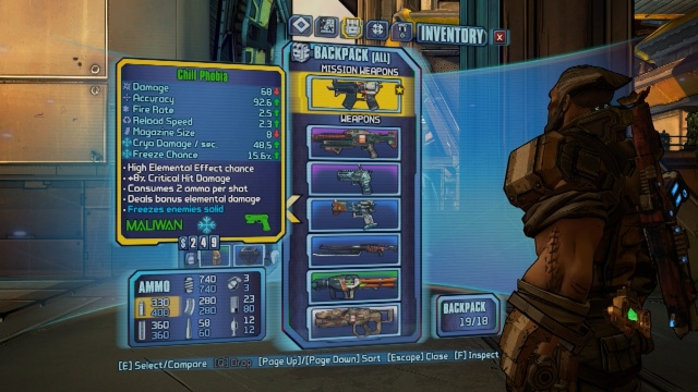 Use this weapon to cool Dean down in Hot Heads in Borderlands: The Pre-Sequel!