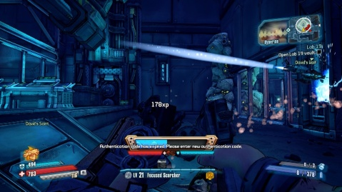 Code location to open the vault in lab 19 in Lab 19 in Borderlands: The Pre-Sequel.
