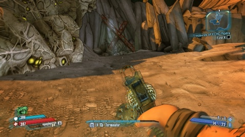 Location of X in Treasures of ECHO Madre in Borderlands: The Pre-Sequel