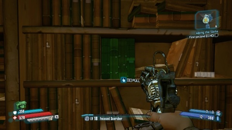Pull on these books to find the second echo in Wiping the Slate in Borderlands: The pre-Sequel!