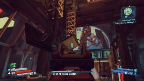 Shoot this panel to find the second ECHO log in Boarding Party in Borderlands: The Pre-Sequel!