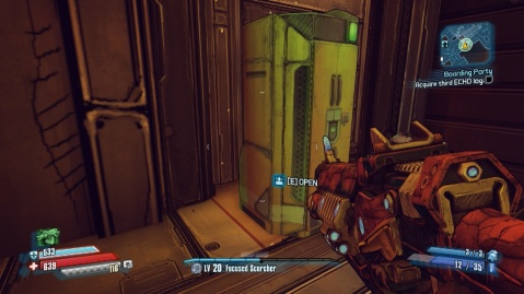Interact with this cabinet to find the third ECHO log in Boarding Party in Borderlands: The Pre-Sequel!