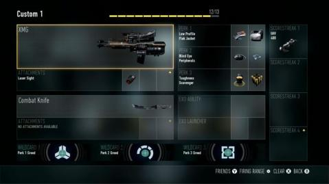 XMG Best Class Setup Call of Duty Advanced Warfare