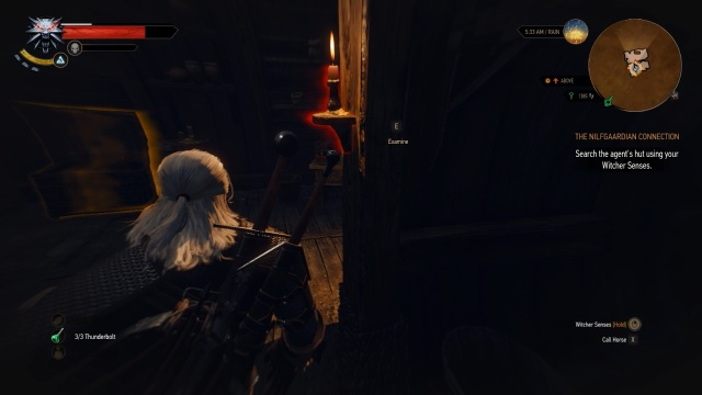 Operate the Switch to Search the Agent's House in The Nilfgardian Connection in Witcher 3 Wild Hunt