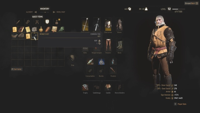 You need Menge's key to find another way out of the witch hunter's outpost in Count Reuven's Treasure in Witcher 3 Wild Hunt.
