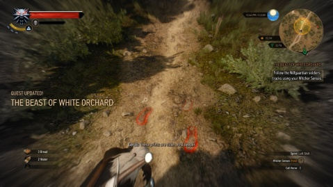 Examing the Bottles in The Beat of White Orchard in The Witcher 3 Wild Hunt
