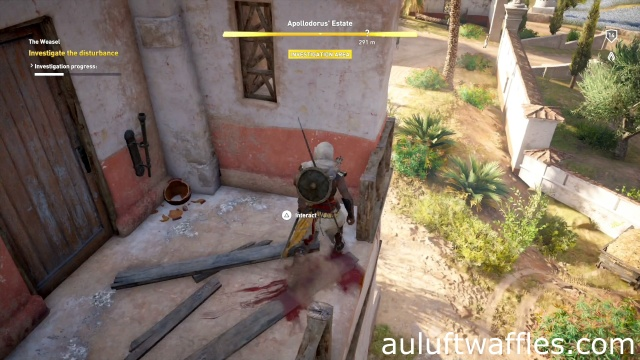 Investigate the Disturbance The Weasel Apollodorus' Estate Assassin's Creed: Origins