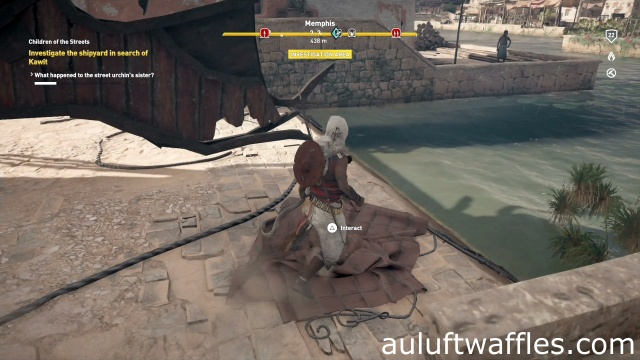 Investigate Shipyard Search Kawit Children of the Streets Assassin's Creed: Origins